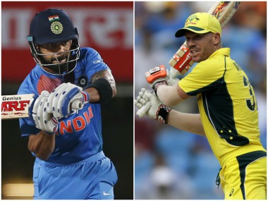 Virat Kohli and David Warner, captain of India and Australia respectively. AP