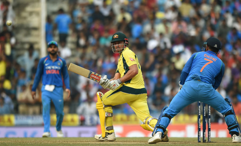 Action between India and Australia in the fifth and final ODI in Nagpur, by which time the series was already won by the hosts, and nothing much left to play for. AFP
