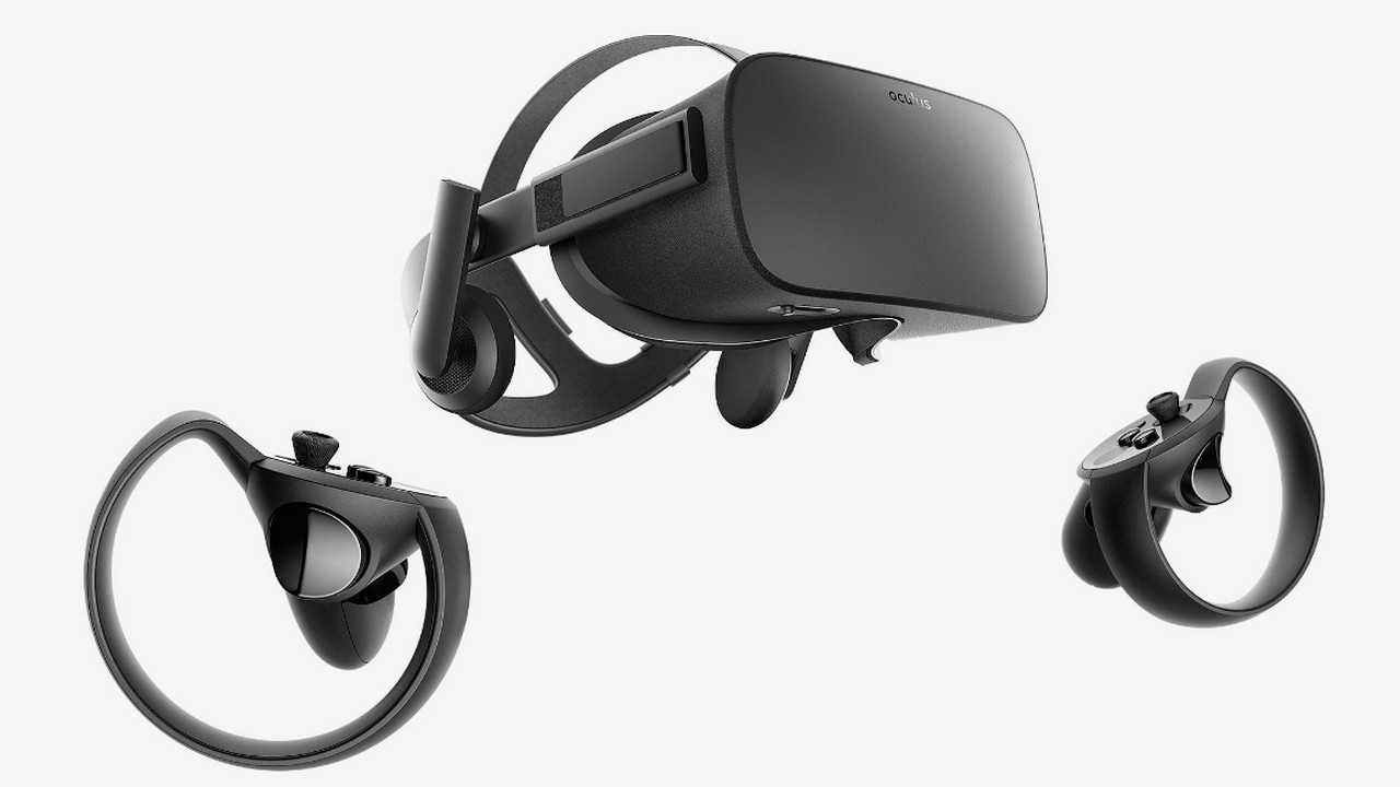 The Oculus Rift VR headset with Touch motion controllers