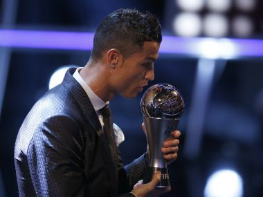 Cristiano Ronaldo pips Lionel Messi and Neymar to win FIFA Player of the Year Award for fifth time