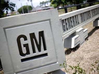 The corporate logo of General Motors. Reuters