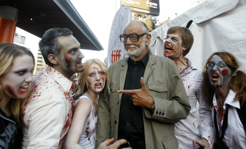 George Romero, father of the modern zombie genre, died in July this year. He was honoured with a posthumous star on the Hollywood Walk of Fame on Wednesday. Reuters