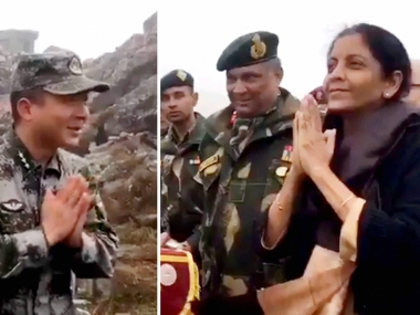 On maiden visit to Nathu La, Nirmala Sitharaman teaches Chinese soldiers how to say 'Namaste'