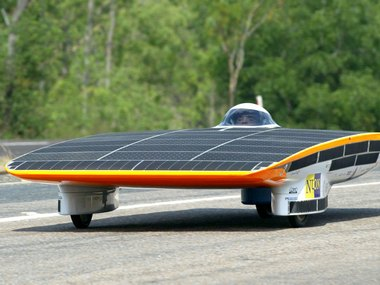 """The """"Nuna II"""" solar car from Nuon Solar Team of Netherlands, back in 2003. Reuters."""