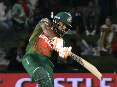 Soumya Sarkar's 37-ball 44 gave Bangladesh some hope of recording their first win of the tour. AFP