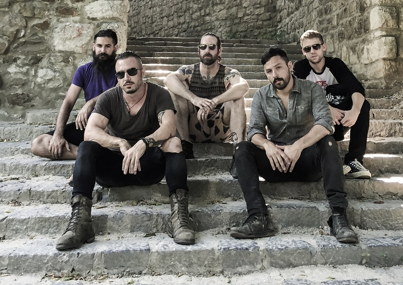 The Dillinger Escape Plan (with Liam in the middle)