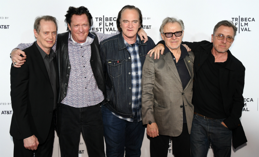 Steve Buscemi, Michael Madsen, Quentin Tarantino, Harvey Keitel and Tim Roth attend the 'Reservoir Dogs' 25th Anniversary Screening during 2017 Tribeca Film Festival at Beacon Theater. AFP