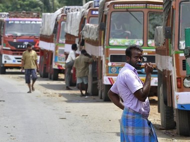 Truck operators go on 2day strike to protest against GST high diesel prices