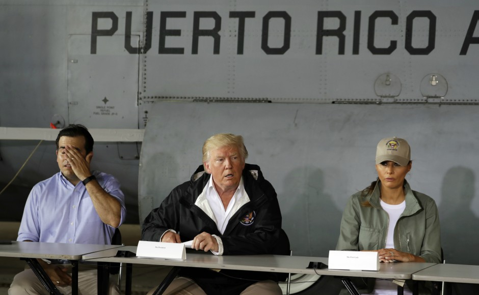 Donald Trump visits Puerto Rico, tells survivors of Hurricane Maria they threw US budget 'out of whack'