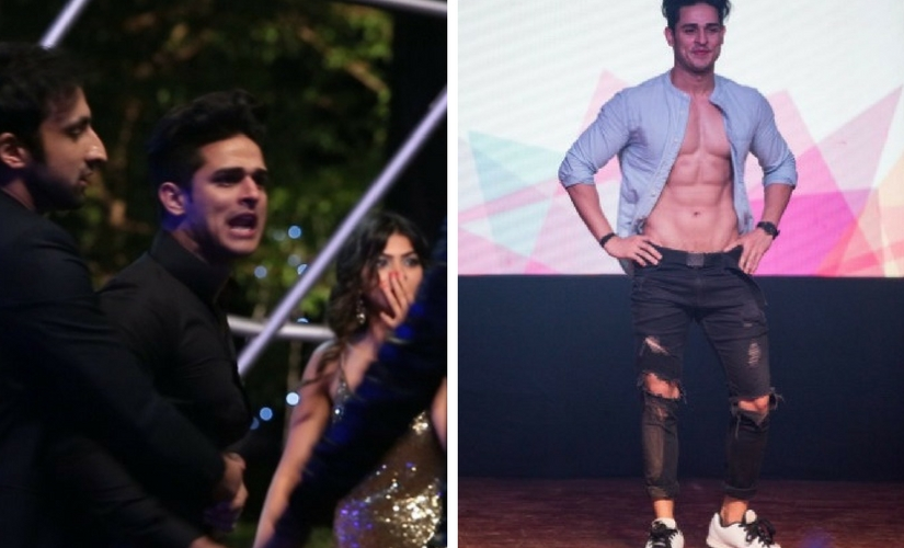 The dumping ground; A contestant during a 'task'. Images from Twitter. @splitsvilla and @boldlybutera