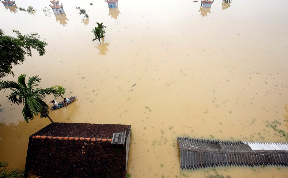 Vietnam in deep waters after tropical depression cause flooding, landslide