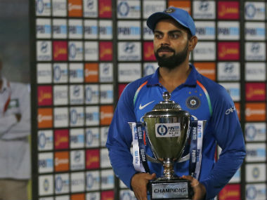 Virat Kohli also showered praise on his bowlers for keeping their calm during anxious moments in the 3rd ODI. AP