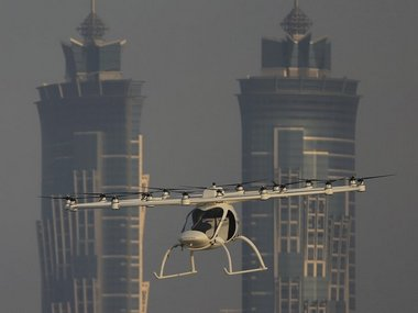German-made electric Volocopter. Image: Associated Press