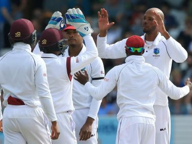 When Chris Mpofu was caught on the boundary off the bowling of Roston Chase for 33, the West Indies took a 1-0 lead in the two-match series. Twitter/@ICC