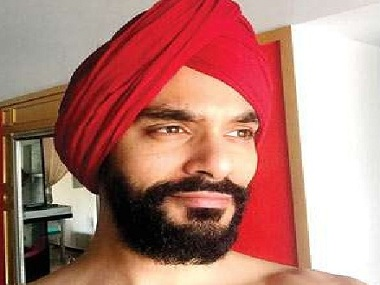 Angad Bedi dons a red turban in his first look from Diljit Dosanjh's Sandeep Singh biopic