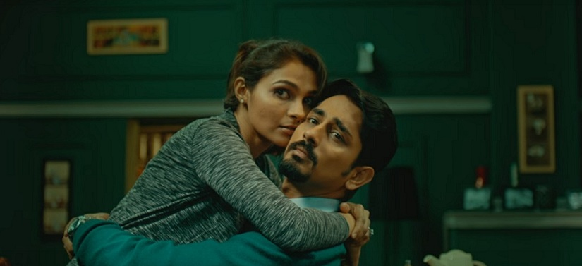 Andrea Jeremiah and Siddharth in a still from Aval. YouTube