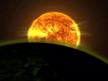 Illustration of a star illuminating the atmosphere of an exoplanet. Image: NASA.