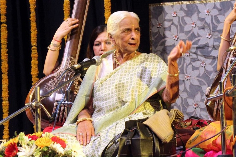 Girija Devi. Image from Twitter/@HCLConcerts