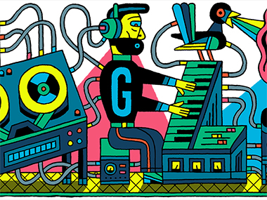 Google Doodle celebrates the 66th anniversary of the Studio for Electronic Music