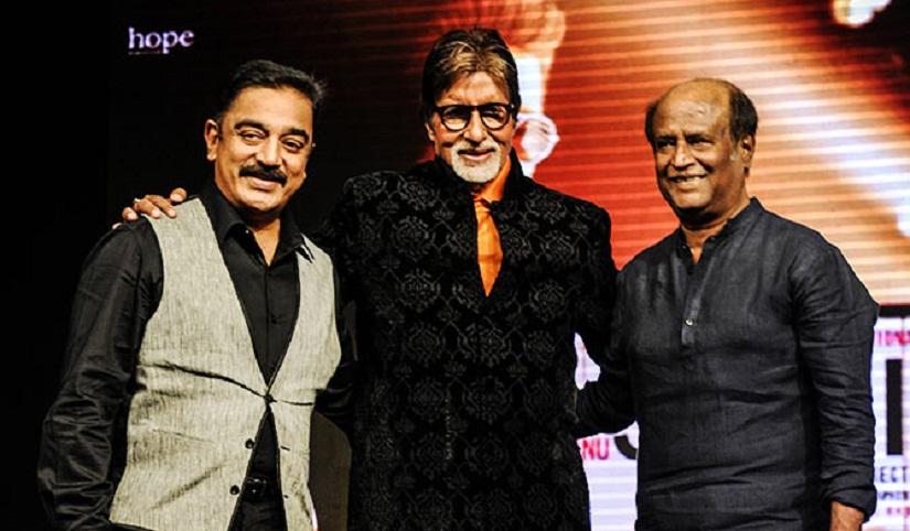 Kamal Haasan, Amitabh Bachchan and Rajinikanth. YouTube