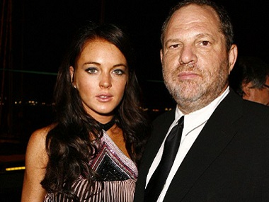 Lindsay Lohan defends Harvey Weinstein after doing 1.5 movies with him