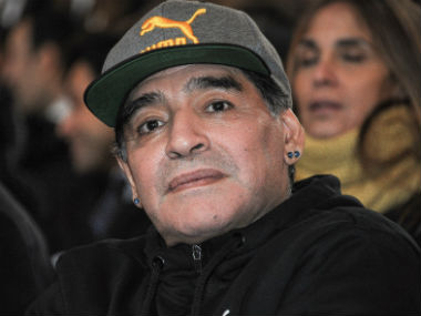 Diego Maradonas new Argentine club Gimnasia y Esgrima make throne for him to sit on pitchside at games