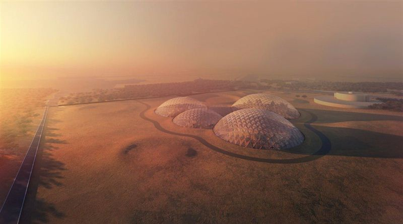 The city will consist of a number of geodesic domes. Image: Dubai Government.
