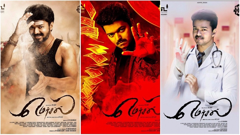 Mersal features Vijay in a triple role: As the father Thalapathy, and as brothers-separated-then-reunited, Vettri (a magician) and Maaran (a doctor)