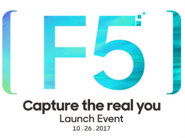Oppo F5 launch is on 26 October. Facebook.