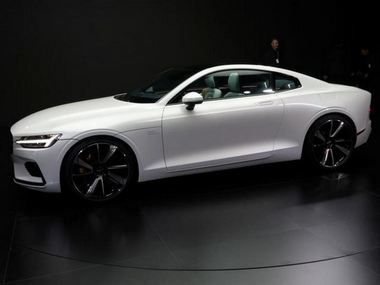 The hybrid Polestar 1 car is seen on display during a launch event in Shanghai. Reuters