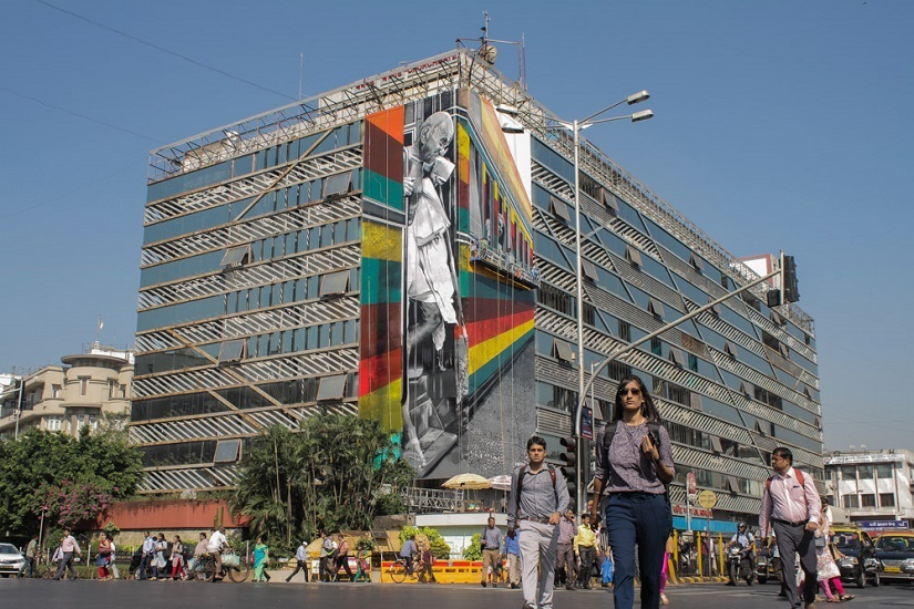 St+art India comes to Mumbai for its second edition, starting of with artist Eduardo Kobra's mural at Churchgate Station. Photo courtesy Pranav Gohil
