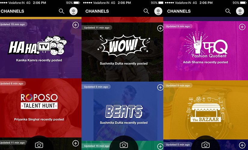 Channels on Roposo