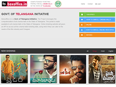 Telangana government launches computerised ticketing portal, tsboxoffice.in for all cinema halls in the state