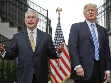 Rex Tillerson plays down tensions with Donald Trump, says he is 'fully committed' to president's objectives