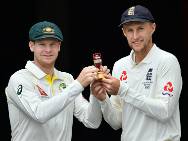 Australia's skipper Steve Smith (L) and England captain Joe Root will fight for Ashes urn in 5 Tests starting in Brisbane on November 22, 2017. AFP