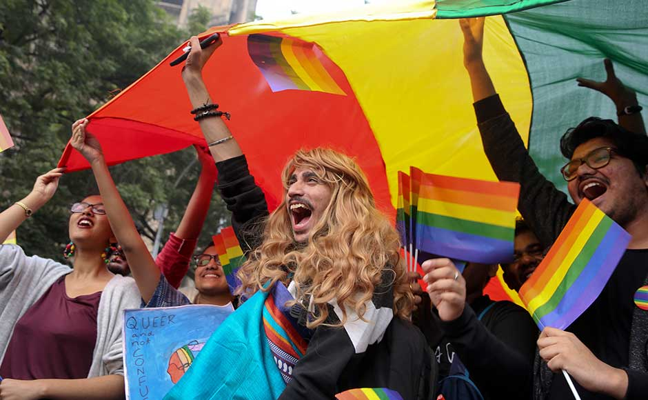 Hundreds march in New Delhi for gay rights at 10th Queer Pride march