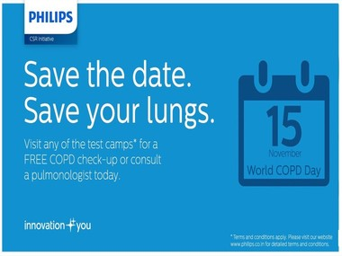 This World COPD Day #SaveYourLungs – A CSR initiative by Philips