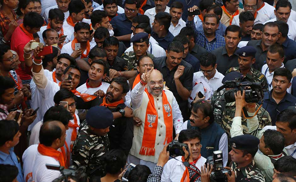 Amit Shah kicks off six-day Gujarat campaign: BJP chief takes Modi's 'message of development' to voters' doors