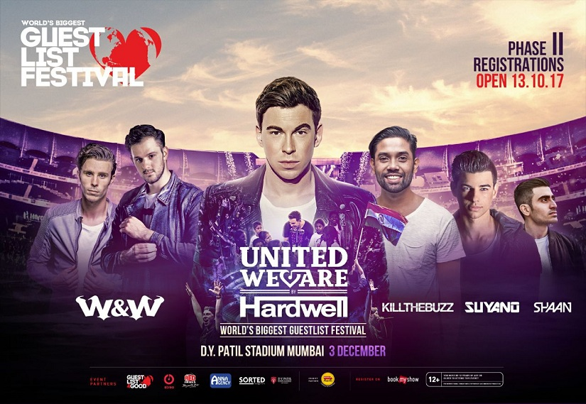Poster for Hardwell's World's Biggest Guestlist Festival.
