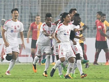 ILeague 201718 Aizawl FC ride on striker William Lalnunfelas brace to earn a point against East Bengal
