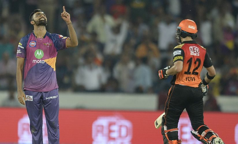 Unadkat picked a five-for in an IPL fixture against Sunrisers Hyderabad, including a last over hat-trick. AFP