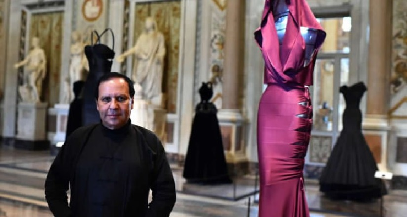 Fashion designer Azzedine Alaïa. Image from Twitter/ @opfavestyles.