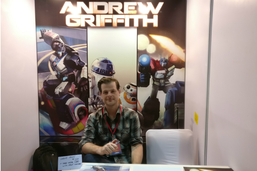 Andrew Griffith at Mumbai Comic Con 2017