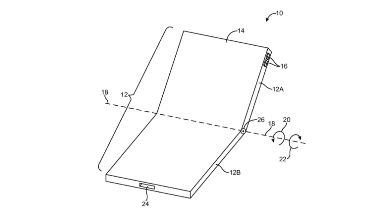 Apple files patent application for foldable application