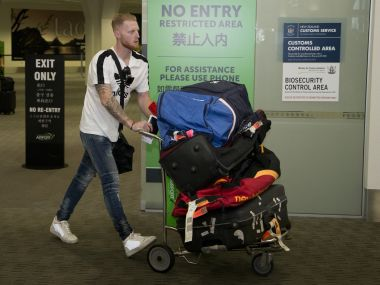Ashes 2017: Suspended Ben Stokes jokes about working on his golf swing after landing in New Zealand