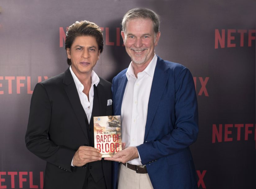 Shah Rukh Khan with Reed Hastings, Netflix Founder and CEO