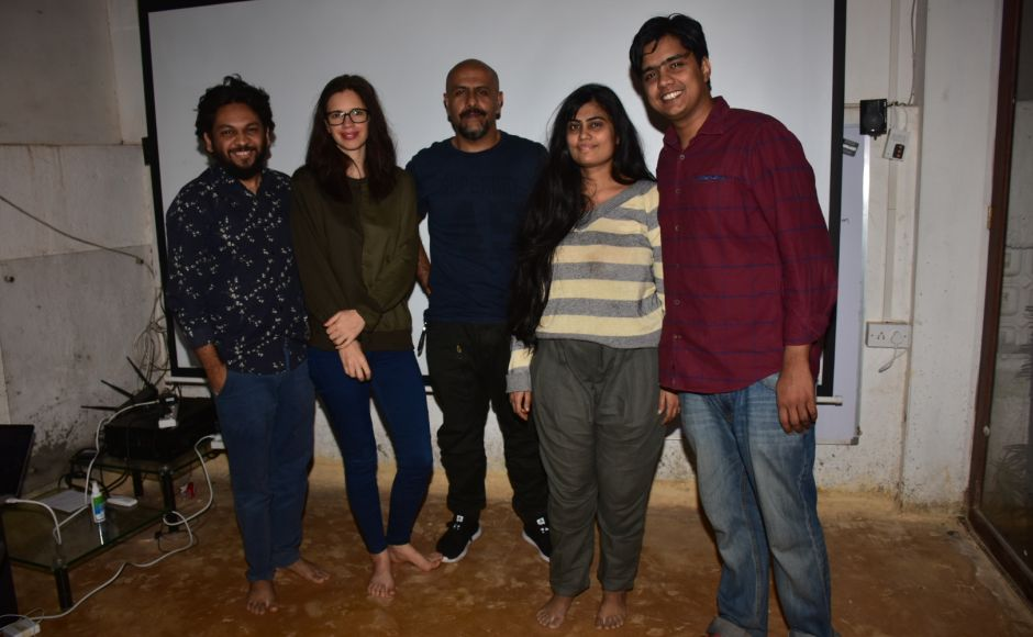 Kalki Koechlin and Vishal Dadlani attend a special screening of the much-awaited political thriller 'An Insignificant Man'
