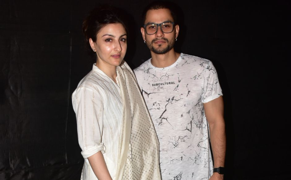 "Soha Ali Khan and her husband Kunal Khemu were spotted at the screening. Soha Ali Khan said the film was ""gripping, entertaining and revealing."""