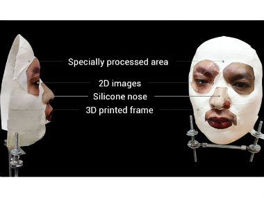 The mask used to test the Face ID feature. Bkav.