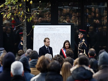 France mourns Paris attack victims two years after tragedy; President Emmanuel Macron lays wreaths at six locations